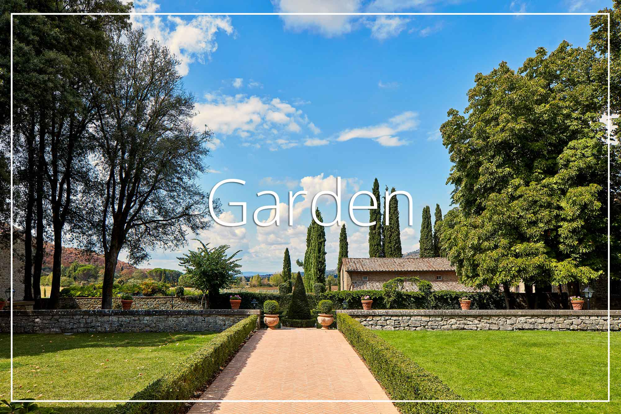 Garden view Villa di Piazzano SLH Luxury Hotel Cortona tuscany