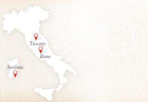 tuscany rome sardinia