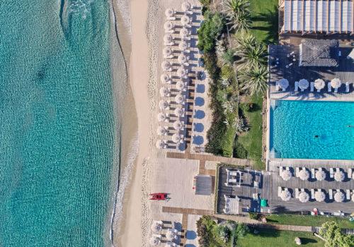 Arial View of La Villa del Re Sister Hotels Villa di Piazzano Villa di Piazzano SLH Luxury Hotel Cortona tuscany