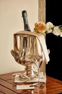 room services bottle Villa di Piazzano SLH Cortona Tuscany