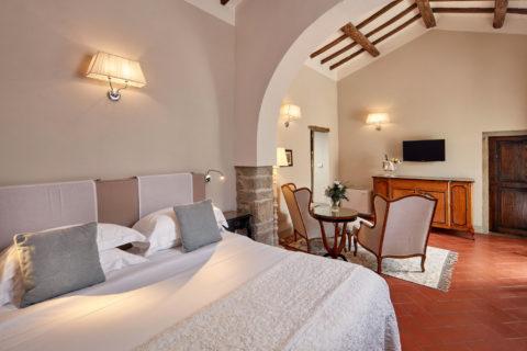 Junior Suites Rooms Villa di Piazzano SLH Luxury Hotel Cortona tuscany