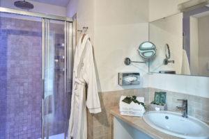 Bathroom detail Classic Rooms Villa di Piazzano SLH Luxury Hotel Cortona tuscany
