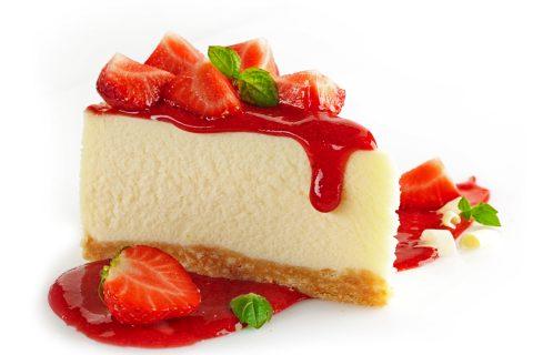 cake strawberries cheese