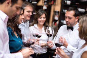 wine people glasses