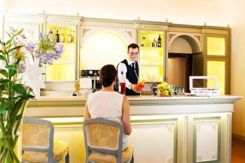 Aperitif time at Bar of Villa di Piazzano SLH Luxury Hotel Cortona tuscany