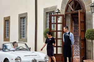 Cortona tuscany Entrance Villa di Piazzano SLH Luxury Hotel Cortona