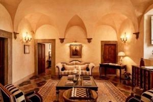 View of the Hall of Villa di Piazzano SLH Luxury Hotel Cortona tuscany